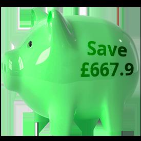 1p a day piggy bank