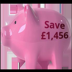 fifteen hundred piggy bank