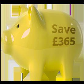 pound save piggy bank