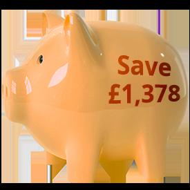 reverse 52 week challenge piggy bank