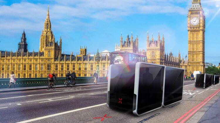 Driverless Britain: Concept of London with a driverless taxi fleet
